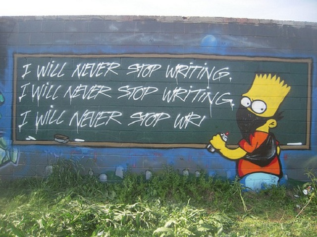 "Street Artists who love ""The Simpsons"" (1)"