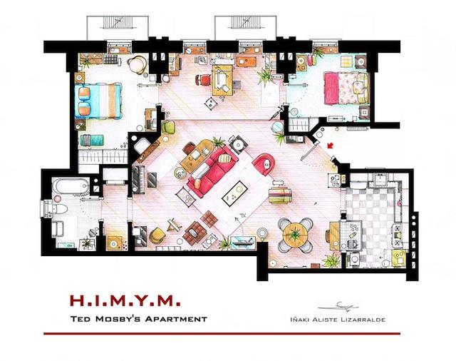 Floor Plans of Popular TV Show Apartments and Houses by Iñaki Aliste Lizarralde (16)