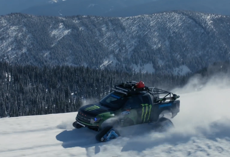 Ken Block's RaptorTRAX Shredfest (Clip)