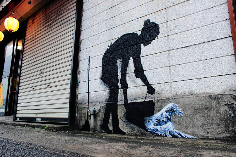 Streetart New Paintings by Artist Pejac (1)