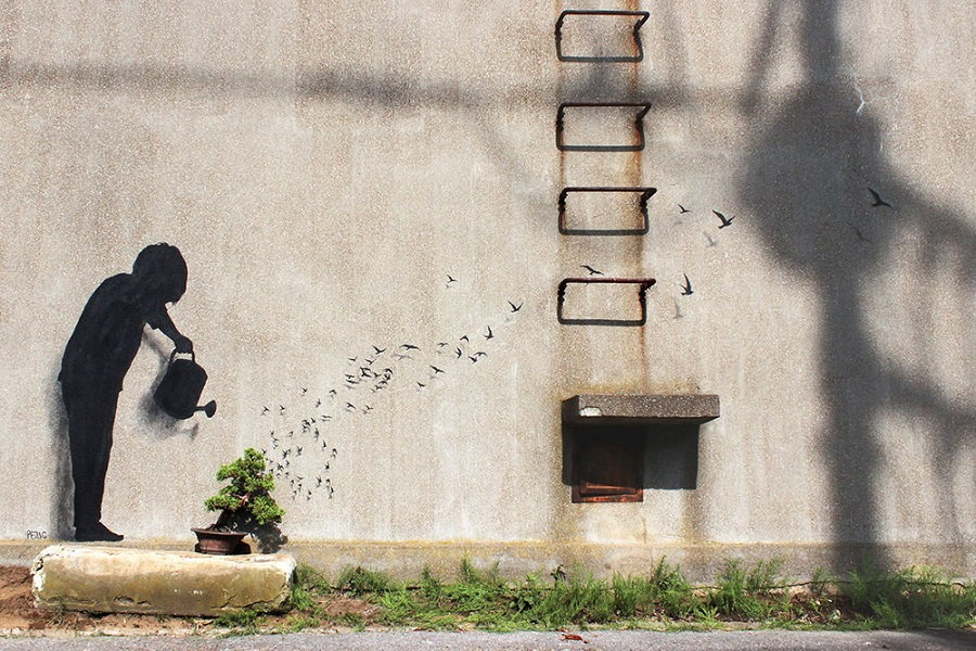 Streetart New Paintings by Artist Pejac (4)