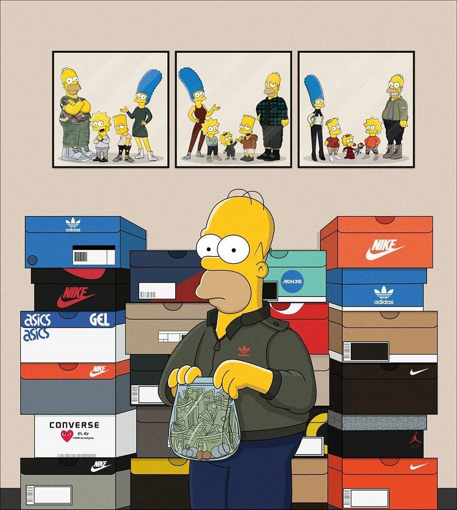 The Simpson As Sneakerheads (by Artist Olga Wójcik) (1)