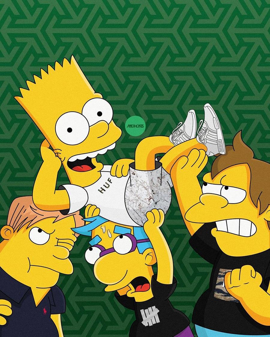 The Simpson As Sneakerheads (by Artist Olga Wójcik) (5)